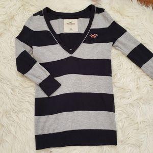 Hollister Cotton Blend Striped Sweater